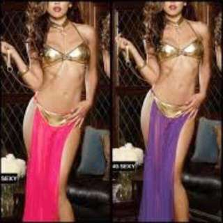 🚚 Lingerie Latin Belly Dance Costume Role Play Cosplay Purple