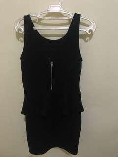Black frills dress