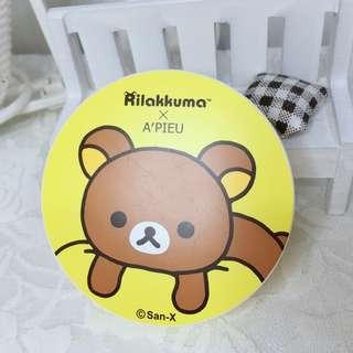 🚚 全新 APIEU 拉拉熊 氣墊粉餅 A'pieu XP 懶熊聯名款
