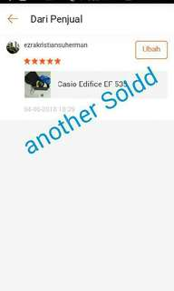Testimoni Casio Edifice