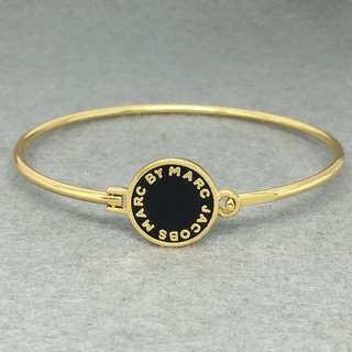 Marc Jacobs Sample bangle Bracelet 黑色配金色手鈪