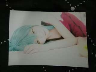 Vocaloid Miku Cosplay Postcard