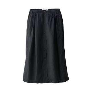 Uniqlo linen relaxed black skirt