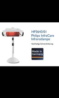 Philips infracare  infrared red healing lamp