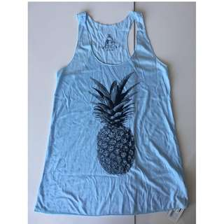 NWT Pineapple Racer-back Tank Top Size Small