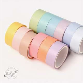 [PO] Pastel Rainbow Washi Tape Set [#PR001, #PR002]