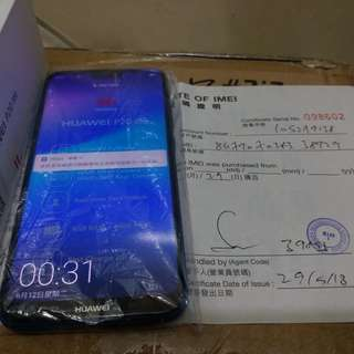 Huawei P20 Lite 藍色 3HK行機 保養至2019年5月