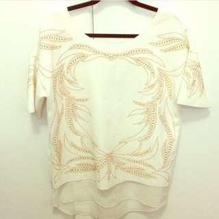 Zara Studded Gold Top