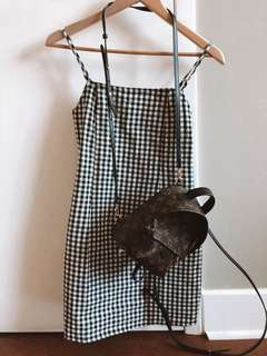 Checkered fashion dress