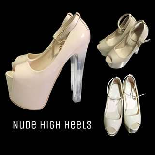 NUDE HIGH HEELS FOR PAGEANT AND EVENTS