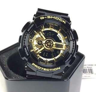 GSHOCK GA110 BLACK/GOLD