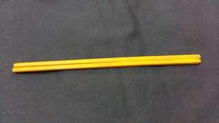 旧牙筷子一对25cm、0.6cm