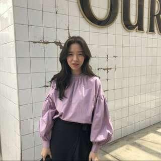 🚚 韓式仙女紫色襯衫