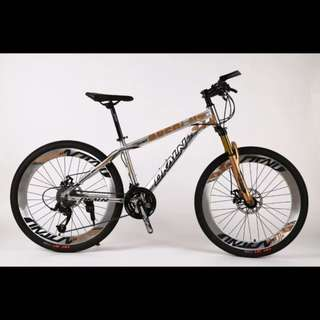 """Dkaln 26"""" Chromium plated, Aluminium MTB / Mountain Bikes ✩ Corrosion Resistance! Microshift 27Speeds, Disc brakes, Front suspension ✩ Brand new bicycles"""