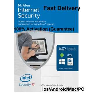 Mcafee Internet Security (1/3/5/10/Unlimited Device)