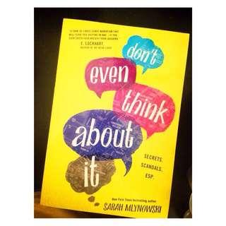 Secondhand | Pre-loved YA Novel • Don't Even Think About It