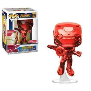 (CLOSED)(Nonprofit) Red Chrome Flying Iron Man Avengers: Infinity War Funko Pop Figure