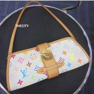 AUTHENTIC LOUIS VUITTON Multicolor White Shirley Clutch /Shoulder Bag - EXCELLENT CONDITION