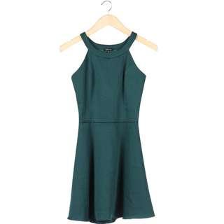 Dark Green Cut Out Mini Dress