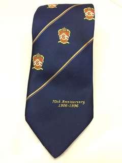 絕版 珍藏 殖民地歷史見證 皇冠頭 kings college 英皇書院 1996 70週年 紀念領帶 兒時回憶
