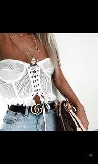 (BN) Crochet Crop Bustier