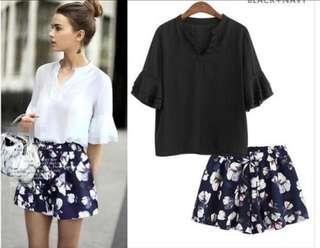 Plus size black blouse