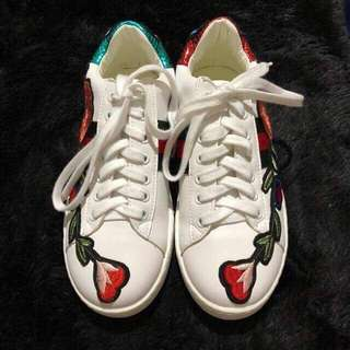 Gucci-Inspired Embroidered Rubber Shoes