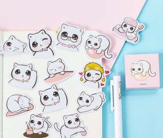 45 pieces Big Eyes Cute Cat Decorative Sticker Pack