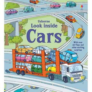 Usborne Looks inside Book - Cars ( All Paperback Books and Brand New )