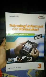 Buku teknologi informasi dan komunikasi untuk SMP kelas IX