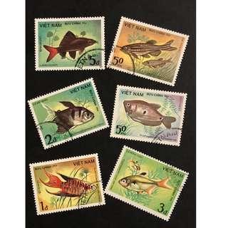 越南魚類紀念郵票