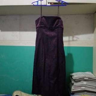 Dark purple/violet dress