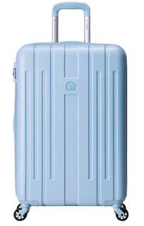 Delsey Luggage Suitcase Grasse Trolley 4W 74CM/29IN (Ice Blue)
