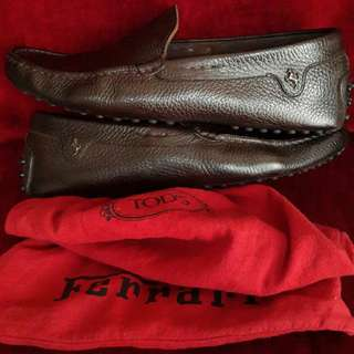Tod's For Ferrari Classics Loafers (Luxury Brown)