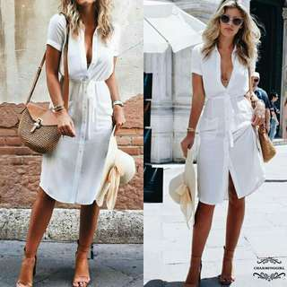 Polo dress white