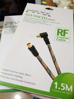 RF coaxial Cable線 (have 2)$20/each