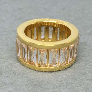 Michael Kors Sample Ring gold 金色閃石戒指 size US 7 直徑1.75 cm