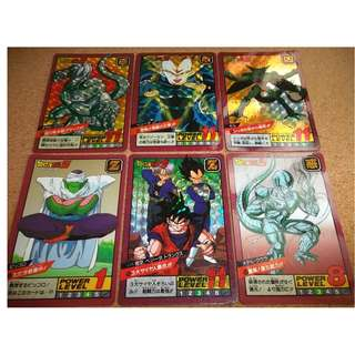 Dragonball power level part 3 prism cards set