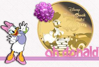 Disney 1/4 Oz Gold Coin - Daisy Duck 75th Anniversary And silver 1 oz