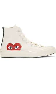 CDG HIGHTOP HEART CONVERSE SIZE 6 WOMENS