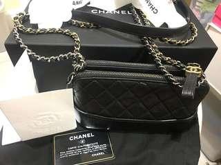 Authentic Chanel gabrielle handbag in black