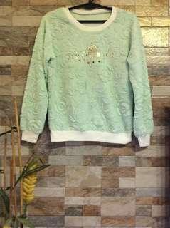 Mint Green Fluffy Sweater