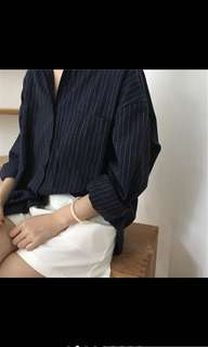 Long sleeve vertical stripes