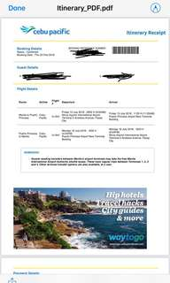 2 pax flight ticket Manila to Puerto Princesa (Two-Way)