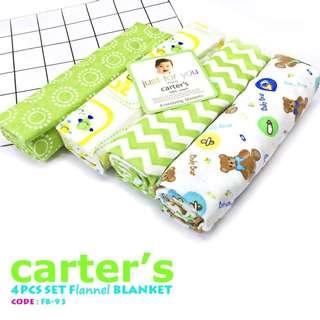 Carters 4pc Set Flannel Blanket