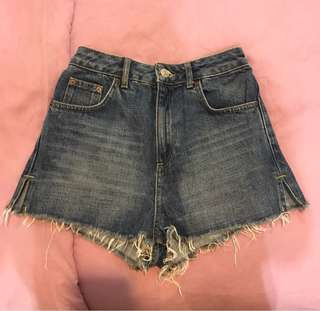 Split Hot-pants Short Jeans