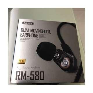 REMAX RM-580 雙動圈耳機 超重低音耳機  ( 全新 )  (   黑 / 白色   )