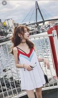 Korean colour block top