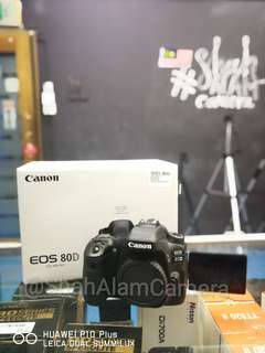(NEW) CANON EOS 80D SEMIPRO DSLR CAMERA BODY