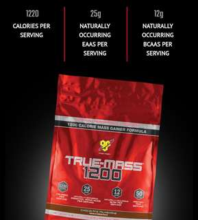 True Mass Gainer 1200 ( Free Delivery lived In Tampines )
